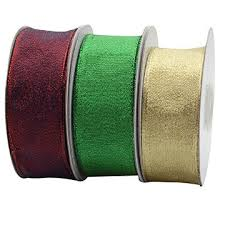 metallic ribbon china wholesale colorful gift packing wired edging metallic ribbon