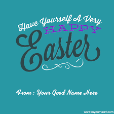 print name on holy week easter card wishes greeting card