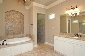 Huge Bathtub Bathroom Contemporary Bathroom With White Vanity Cabinet And