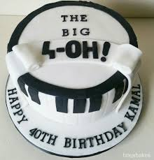 the big 4 oh musical 40th birthday cake cakes pinterest 40