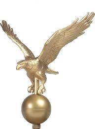 flagpole eagle ornament gold liberty flags the american wave r
