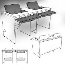 Recessed Computer Desk Flipit Desks Are Featured With The Semi Recessed Position That
