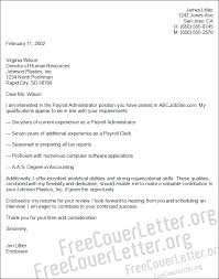 Sample Payroll Resume by Administrator Cover Letter Sample