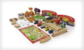 table top train set 169 for a chuggington wooden train set groupon