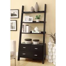 Bookshelves And Cabinets by White Ladder Bookshelf White Linea Ladder Shelf Escala Shelf
