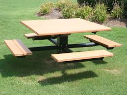 4 seat picnic table outdoorlivingdecor