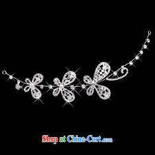 time his korean style butterfly flowers bridal hair accessories