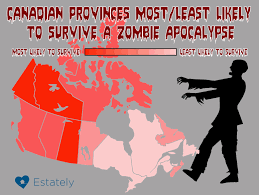 Map Of Canada With Provinces by Which Canadian Provinces Offer The Best Odds Of Surviving A Zombie