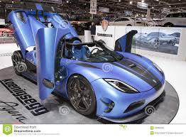 blue koenigsegg agera r koenigsegg agera r 2013 geneva motor show 2012 editorial stock
