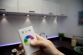 how to add under cabinet lighting change the mood by changing the colour colour changing led
