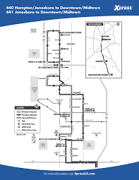 Marta Atlanta Map Route 440 441 U2013 Hampton Jonesboro To Downtown Midtown Xpress
