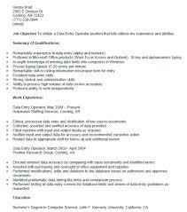 Resume Of Data Entry Operator Data Entry Skills Eliving Co