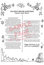 poem of the night before christmas to print mypoems co