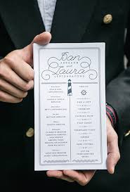 how to do a wedding program 10 creative wedding ceremony programs that give impression to