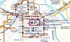 map of xi an xian tour xian travel xian maps xian city map xian tourist map