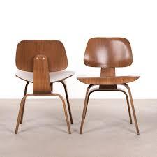 Esszimmerstuhl Walnuss Dcw Walnuss Schichtholz Stuhl Von Charles U0026 Ray Eames Für Herman