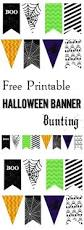 free printable halloween bookmarks halloween banner bunting free printable paper trail design