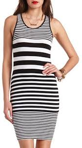 Black And White Striped Bodycon Dress Charlotte Russe Knit Bodycon Striped Dress Where To Buy U0026 How To