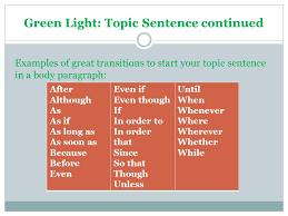 Traffic Light Order Creating Paragraphs The Traffic Light Method Ppt Video Online