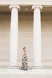 anthropologie floral maxi dress for a black tie wedding at the