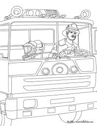 fireman is driving the truck coloring pages hellokids com