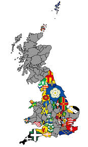 County Flags Uk County Flag Map 2 British County Flags