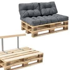 en casa canapé de palette 2 siège avec coussins gris