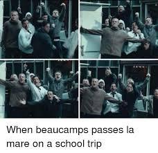 School Trip Meme - efi when beaucs passes la mare on a school trip meme on me me