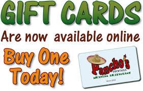restaurant gift cards online restaurant gift cards pancho s mexican restaurant