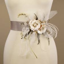 bridal sash bridal sash wedding dress belt vintage by ericaelizabethdesign