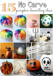 Halloween Pumpkin Decorating Ideas 15 No Carve Pumpkin Decorating Ideas Moms Without Answers