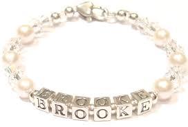 Name Braclets Christening Bracelet Sterling Silver Baby Name Bracelet Newborn
