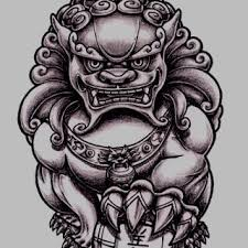 photo collection foo dog statue drawing