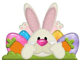 easter bunny with eggs transparent png clipart clipart easter
