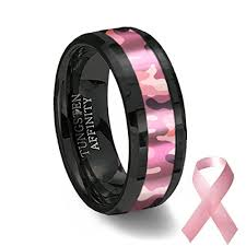 Pink Camo Wedding Rings by Black Ceramic Ring With Pink Camouflage Inlay 8mm Width U2013 Camo