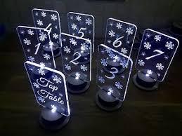 winter wonderland table numbers table numbers acrylic light up snowflake winter wonderland design