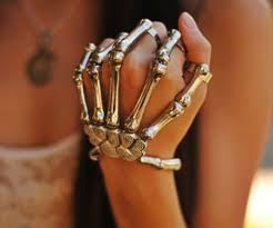 skull hand bracelet images Skeleton hand bracelets awesome stuff 365 jpg