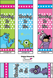 bookmarks monsters bookmarks free printable ideas