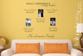 Family Room Vs Living Room by Family Room Decor What A Difference A Day Makes Wall Decal