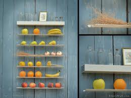 wandregal küche praktisches wandregal für küche obst und gemüse übersichtlich ordnen