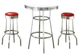 Retro Bar Table Soda Stool Antique Soda Porcelain Bar Stools For
