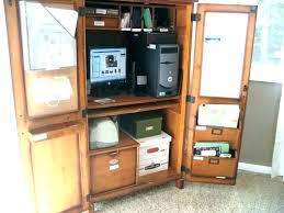 Corner Hideaway Computer Desk Oak Hideaway Computer Desk Hideaway Computer Cabinet Large Size Of