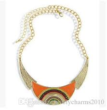 leaf pattern necklace 2018 fashion leaf pattern necklace moon enamel colourful rice beads
