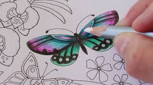 how i color butterflies in the magical jungle coloring book
