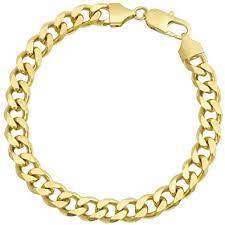 gold bracelet chain design images 18k gold plated mens cuban link bracelet flat edge jpg