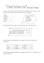 english teaching worksheets past habits used to