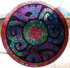 Mosaic Top Patio Table Mosaic Tile Tabletop This Is A Great Idea For Updating A Glass Top
