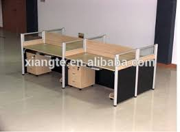 Commercial Office Furniture Desk Modern Design 4 Seat Office Desk With Partition Board Commercial