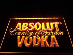 absolut vodka country of sweden led sign u2013 vintagily
