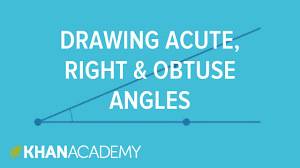 drawing acute right and obtuse angles 4th grade khan academy